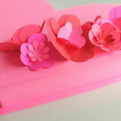 DIY Valentine Heart Box with Paper Flowers