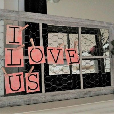 DIY Chicken Wire Window Home Décor