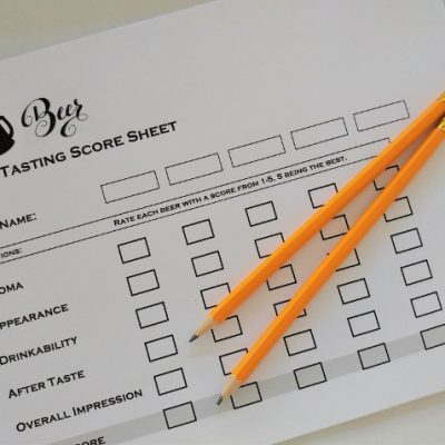 Beer Tasting Party Score Sheets