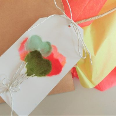 How to Make a Chigiri-e Balloon Gift Tag