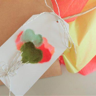 How to Make a Chigiri-e Balloon Gift Tag