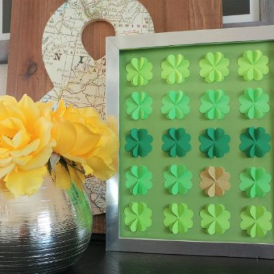 DIY Four Leaf Clover Paper Art