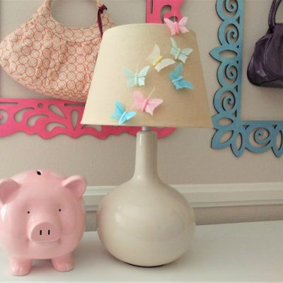 Upcycled Thrift Store Lamp Shade