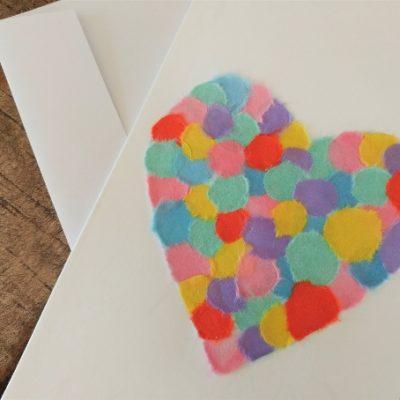 """""""Color Your Heart Out!"""" Handmade Chigiri-e Card"""