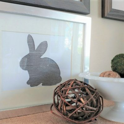 DIY Easter Bunny Yarn Art