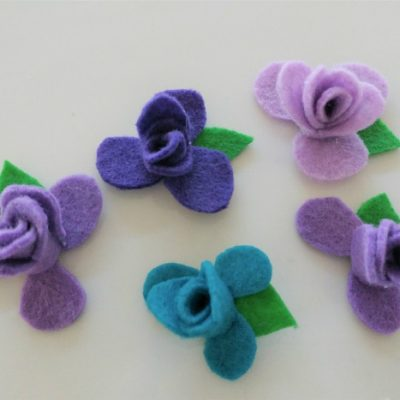 DIY No Sew Felt Flowers