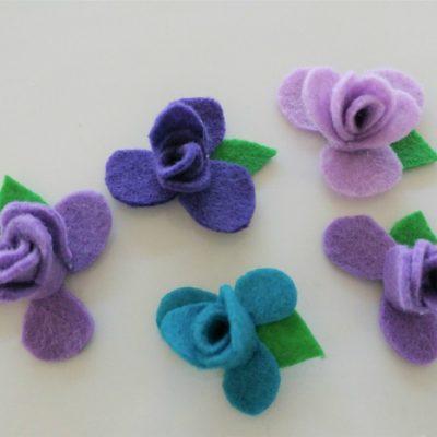 DIY No Sew Felt Flowers