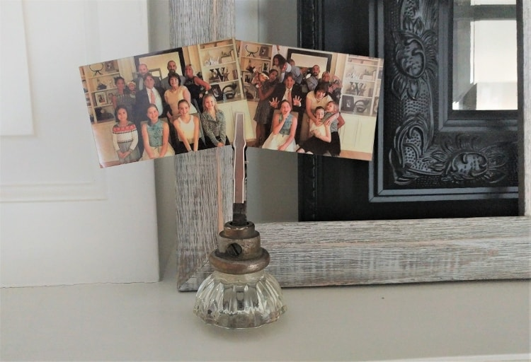Repurposed Vintage Door Knob Photo Holder
