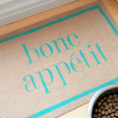 Bone Appetit DIY Dog Bowl Mat