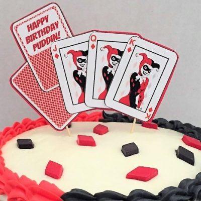 Harley Quinn DIY Cake Topper