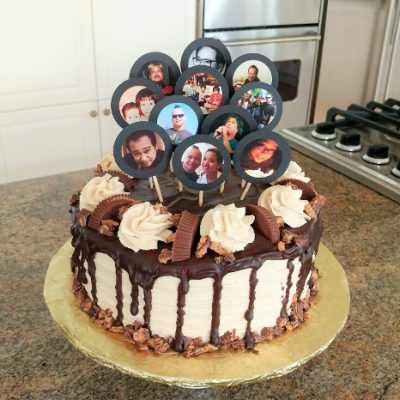 Turn Facebook Photos into DIY Cake Toppers
