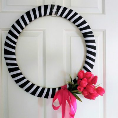 DIY Wire Ribbon Wreath for Spring