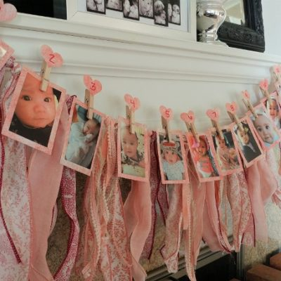 First Birthday Photo and Fabric Bunting