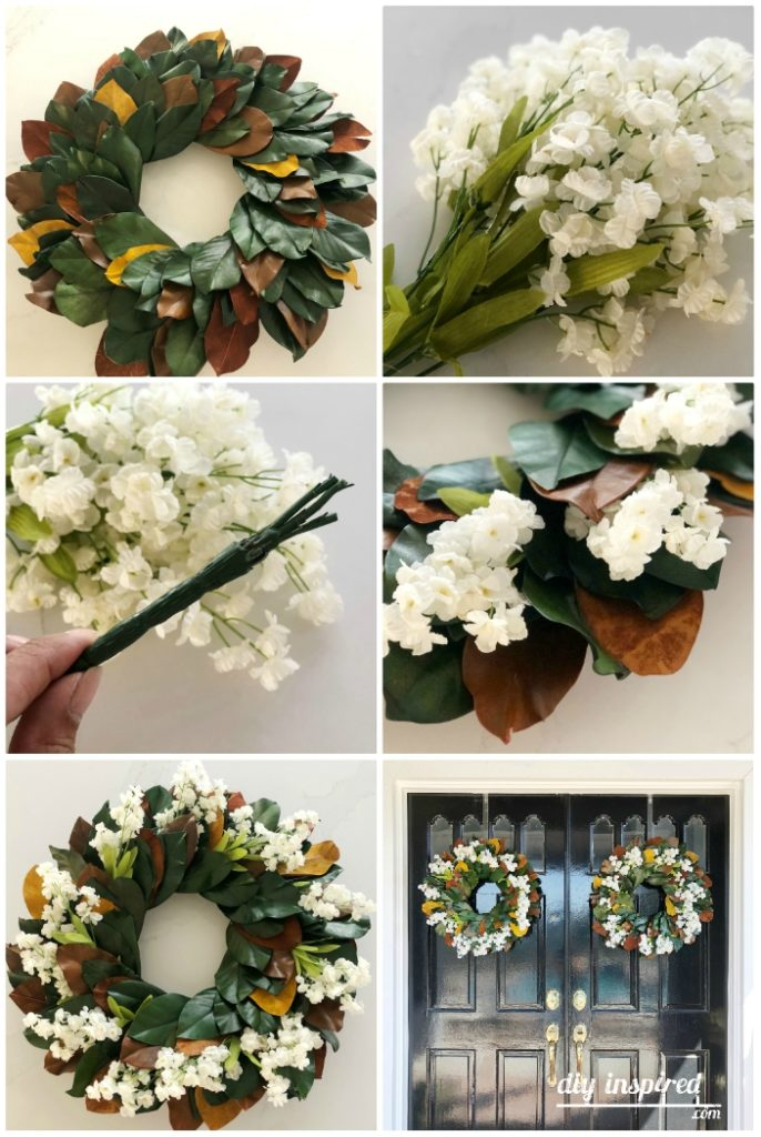Magnolia Spring Wreath DIY