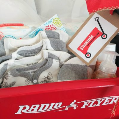 Little Red Wagon Gift Basket Idea