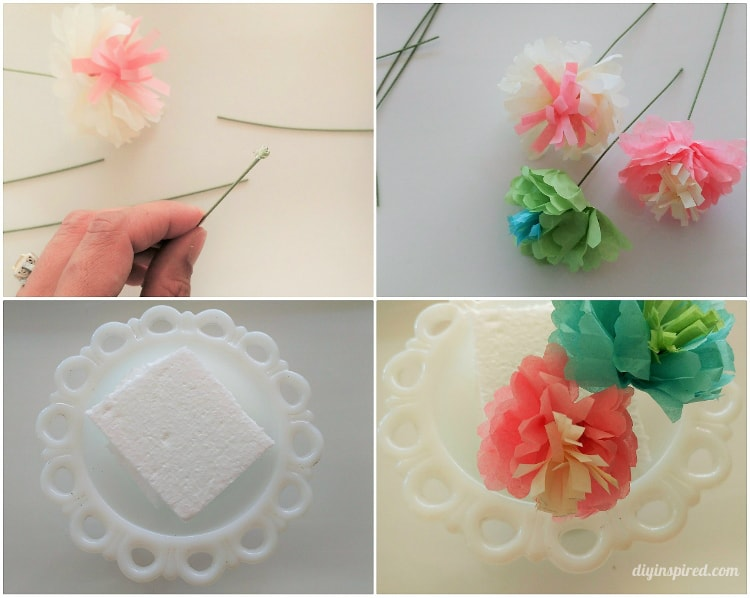 Small Tissue Paper Flowers DIY