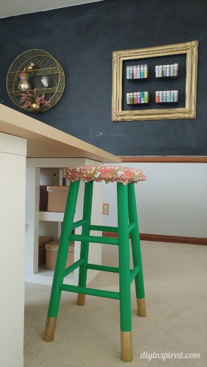 Upcycled Craft Room Stools - DIY Inspired