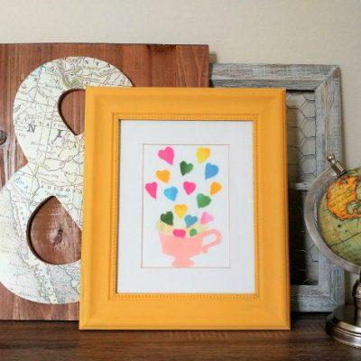 Upcycled Thrift Store Frame with Chigiri-e Art