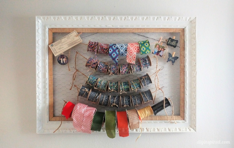 Craft Room Ribbon Storage