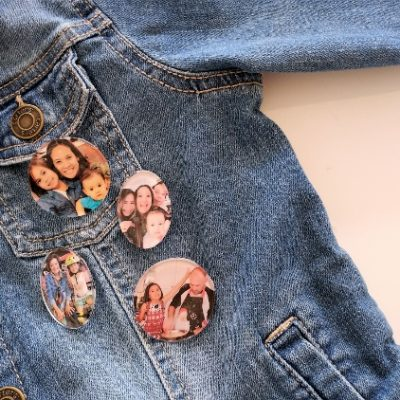 DIY Photo Pins from Social Media Pictures
