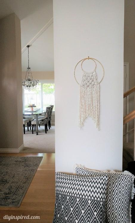 Double Hoop Macrame Wall Hanging - DIY Inspired
