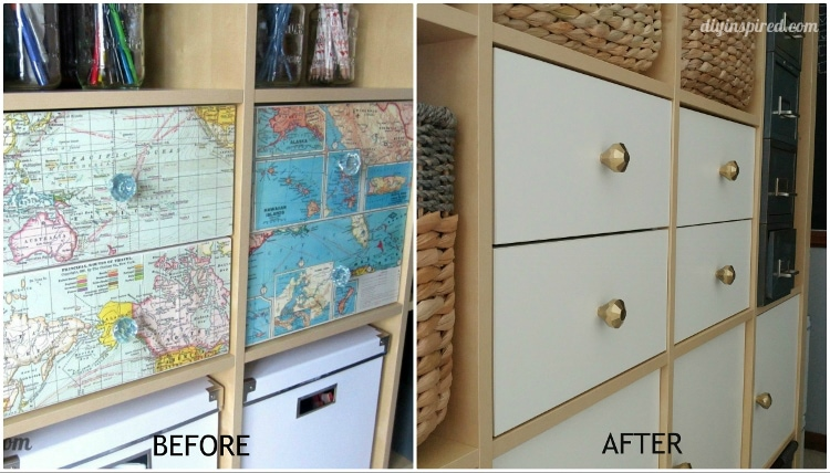 Drawer Makeover Before and After
