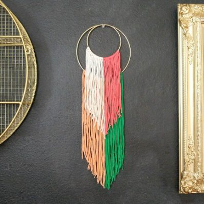 Easy DIY Double Hoop Wall Hanging