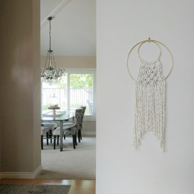 Easy Macramé Wall Hanging with Hoops