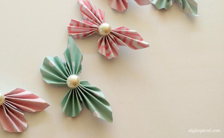 Artesanato de borboletas de papel