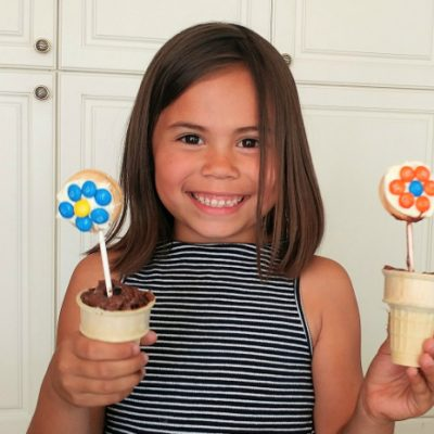 Cookie Flower Pot Treats for Mother's Day