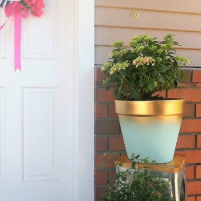 DIY Painted Terra Cotta Pot to Add Curb Appeal
