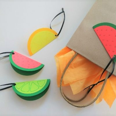 DIY Fruit Slice Gift Tags