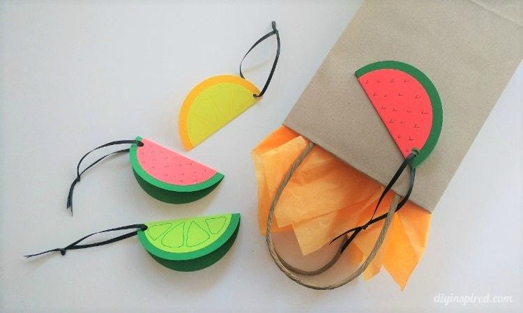 Etiquetas para presente DIY Fruit Slice