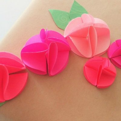 Easy Circle Punch Paper Flowers