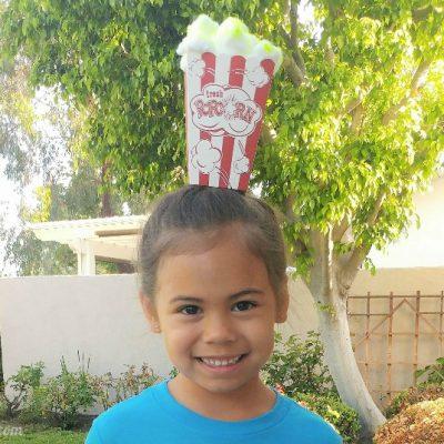 Popcorn Crazy Hair Day Idea