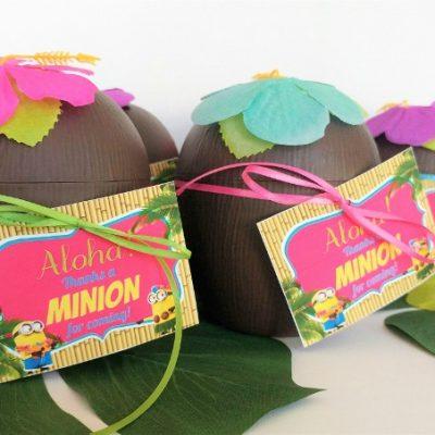 Minion Luau Party Favor with Printable