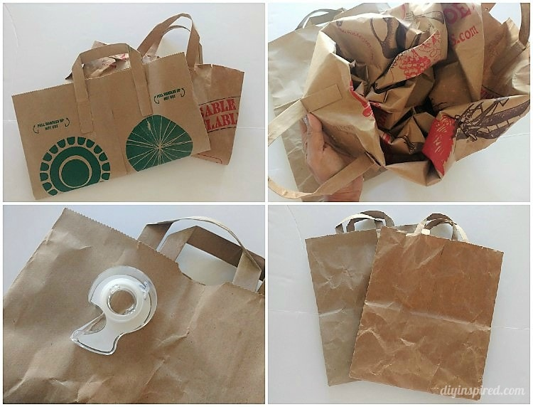 Brown Paper Bag Gift Wrapping - DIY Inspired