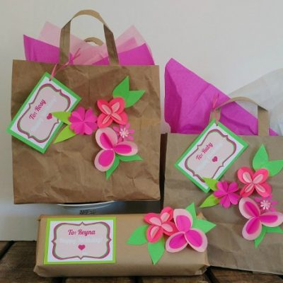 Brown Paper Bag Gift Wrapping