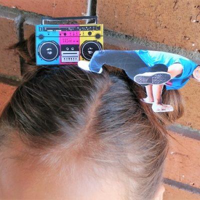 Break Dancer Crazy Hair Day Idea