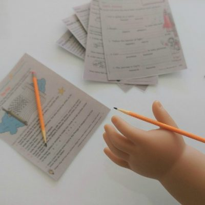 DIY Doll School Supplies Pencils and Homework