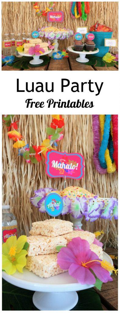 Luau Party Free Printables