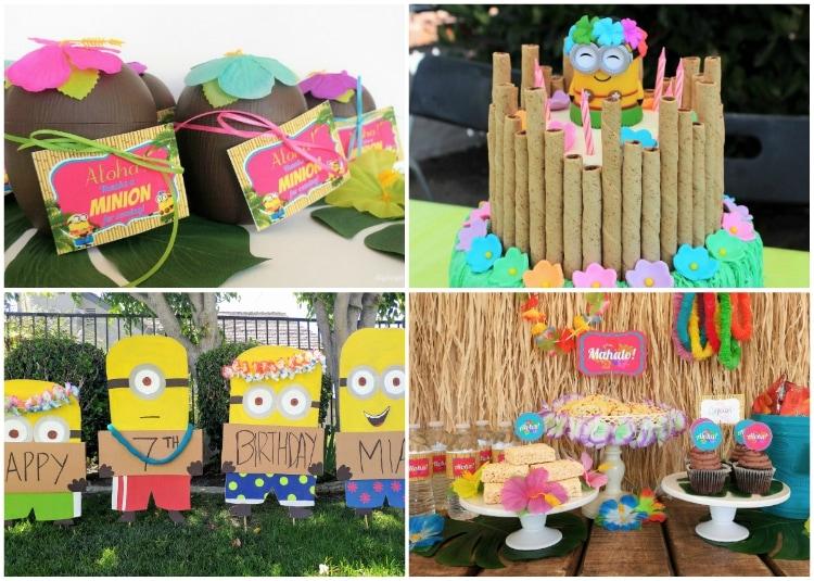 Minion Luau Birthday Party Diy Inspired