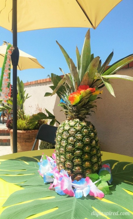 Pineapple Luau Party Centerpieces