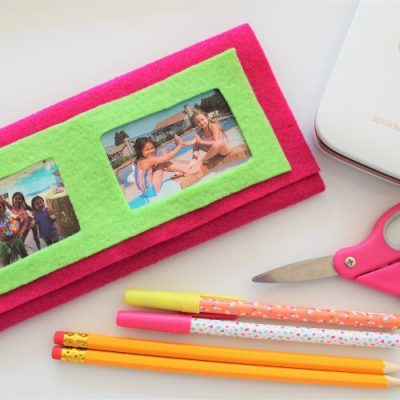 No Sew Photo Pencil Case