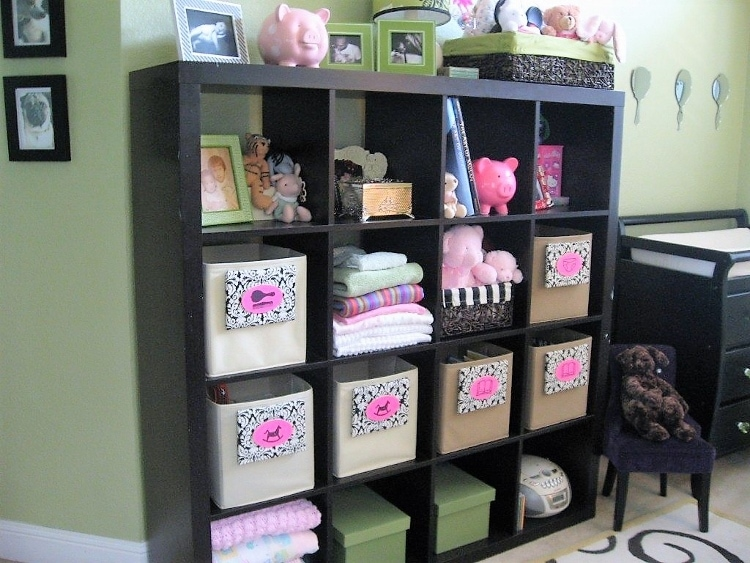 Quick and Easy Nursery Decorating DIY Ideas including Simple Wall Art Projects and Storage Solutions