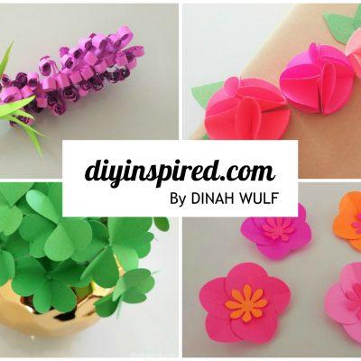 4 Easy Paper Flower Tutorials