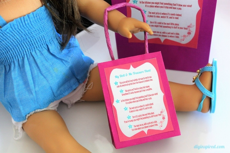 graphic regarding American Girl Printable titled My Doll and Me Treasure Scavenger Hunt with Printables - Do it yourself