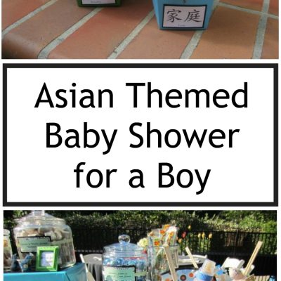 Asian Themed Baby Shower for a Boy
