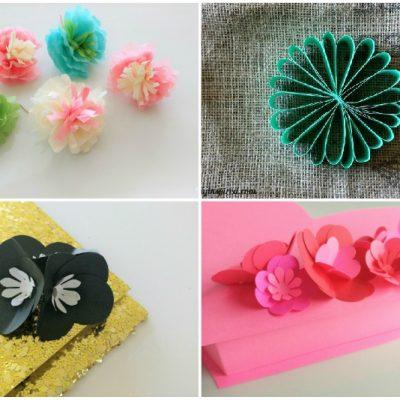 6 Easy Paper Flower DIY Ideas