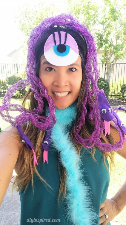 Celia Monsters Inc DIY Costume